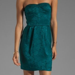 Rebecca Taylor Silk Strapless Dress